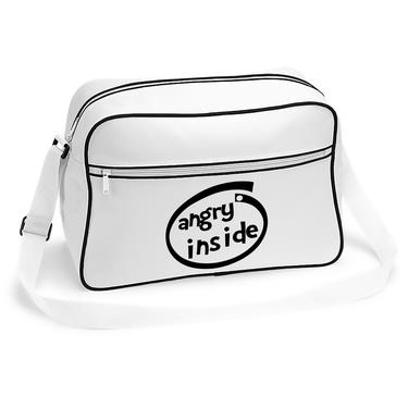 Picture of Angry Inside Parody Logo Retro Shoulder Bag