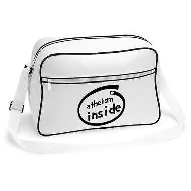 Picture of Atheism Inside Parody Logo Retro Shoulder Bag