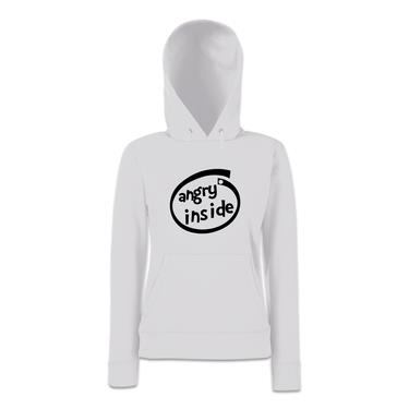 Picture of Angry Inside Parody Logo Womens Hoodie