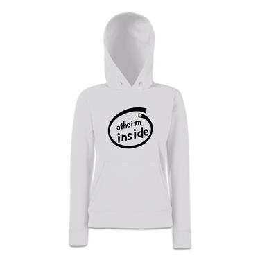 Picture of Atheism Inside Parody Logo Womens Hoodie