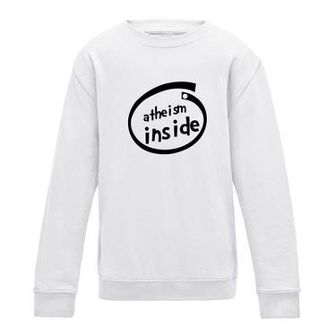 Picture of Atheism Inside Parody Logo Womens Sweatshirt