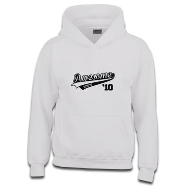 Picture of Awesome Since Year 10 2010 Birthday Anniversary Boys Hoodie