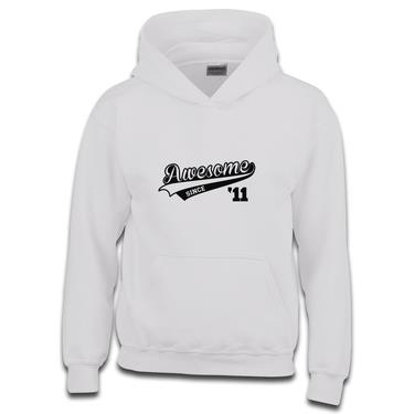 Picture of Awesome Since Year 11 2011 Birthday Anniversary Boys Hoodie