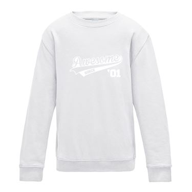 Picture of Awesome Since Year 01 2001 Birthday Anniversary Girls Sweatshirt