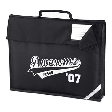 Picture of Awesome Since Year 07 2007 Birthday Anniversary Homework Bag