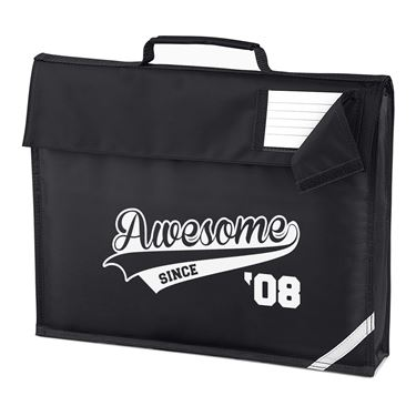 Picture of Awesome Since Year 08 2008 Birthday Anniversary Homework Bag