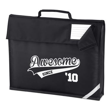 Picture of Awesome Since Year 10 2010 Birthday Anniversary Homework Bag