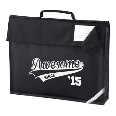 Picture of Awesome Since Year 15 2015 Birthday Anniversary Homework Bag