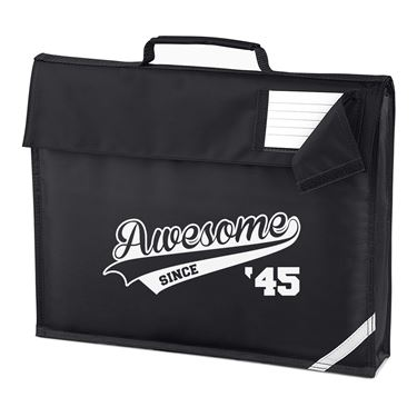 Picture of Awesome Since Year 45 1945 Birthday Anniversary Homework Bag