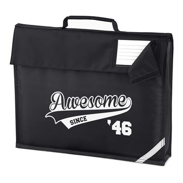 Picture of Awesome Since Year 46 1946 Birthday Anniversary Homework Bag
