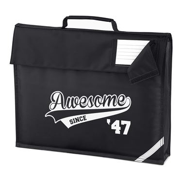 Picture of Awesome Since Year 47 1947 Birthday Anniversary Homework Bag