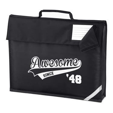 Picture of Awesome Since Year 48 1948 Birthday Anniversary Homework Bag