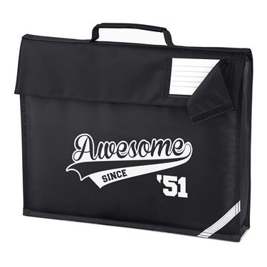 Picture of Awesome Since Year 51 1951 Birthday Anniversary Homework Bag