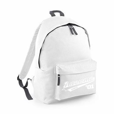 Picture of Awesome Since Year 01 2001 Birthday Anniversary Junior Backpack