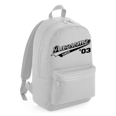 Picture of Awesome Since Year 03 2003 Birthday Anniversary Kids Backpack