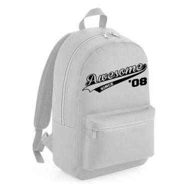 Picture of Awesome Since Year 08 2008 Birthday Anniversary Kids Backpack