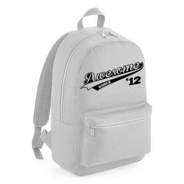 Picture of Awesome Since Year 12 2012 Birthday Anniversary Kids Backpack