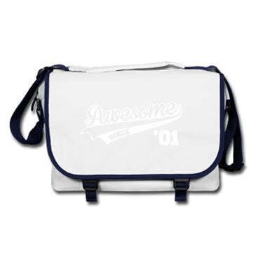 Picture of Awesome Since Year 01 2001 Birthday Anniversary Messenger Bag