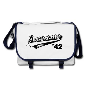 Picture of Awesome Since Year 42 1942 Birthday Anniversary Messenger Bag
