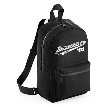Picture of Awesome Since Year 01 2001 Birthday Anniversary Mini Backpack