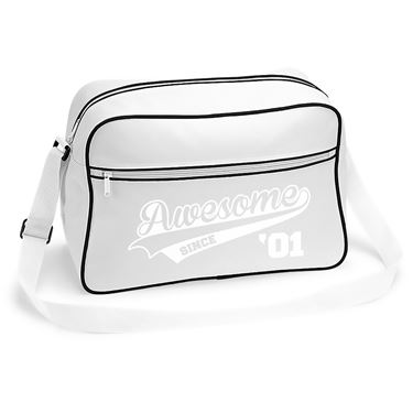 Picture of Awesome Since Year 01 2001 Birthday Anniversary Retro Shoulder Bag