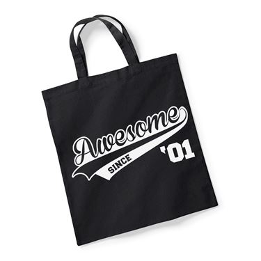 Picture of Awesome Since Year 01 2001 Birthday Anniversary Reusable Bag For Life