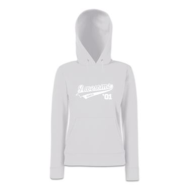 Picture of Awesome Since Year 01 2001 Birthday Anniversary Womens Hoodie