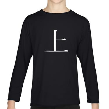 Picture of Above Kanji Logo Anime Manga Boys Long Sleeve Tshirt