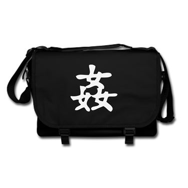Picture of Adultery Kanji Logo Anime Manga Messenger Bag