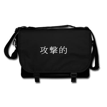 Picture of Aggresive Kanji Logo Anime Manga Messenger Bag