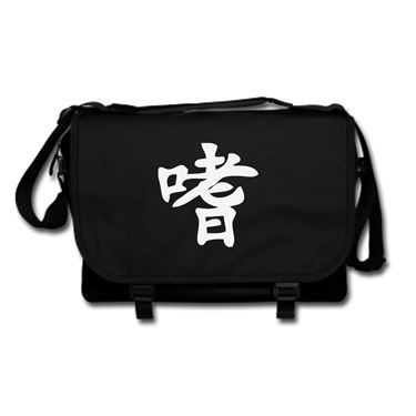 Picture of Alcoholic Kanji Logo Anime Manga Messenger Bag
