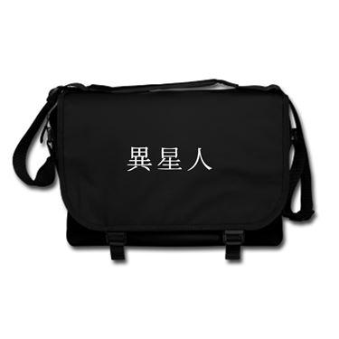 Picture of Alien Kanji Logo Anime Manga Messenger Bag