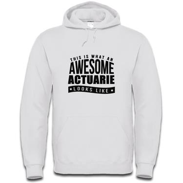Picture of This Is What An Awesome Actuarie Looks Like Mens Hoodie