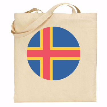 Picture of Emoji Aland Islands Flag Shopper Bag