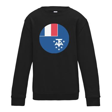 Picture of Emoji French Southern Territories Flag Womens Sweatshirt