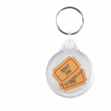 Picture of Emoji Admission Tickets Plastic Keyring