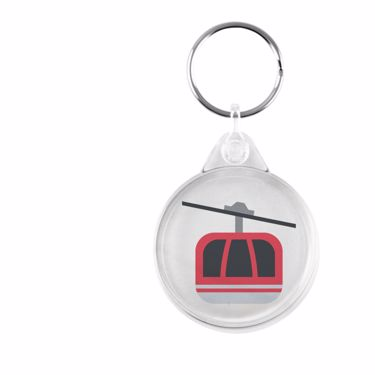 Picture of Emoji Aerial Tramway Plastic Keyring