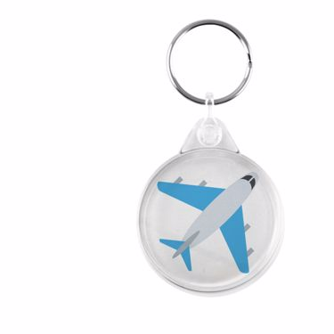 Picture of Emoji Airplane Plastic Keyring
