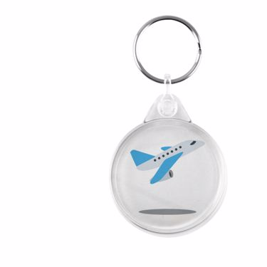 Picture of Emoji Airplane Departure Plastic Keyring
