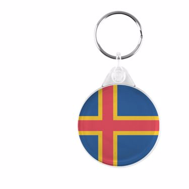 Picture of Emoji Aland Islands Flag Plastic Keyring
