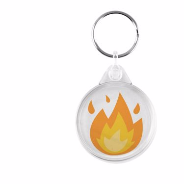 Picture of Emoji Fire Plastic Keyring