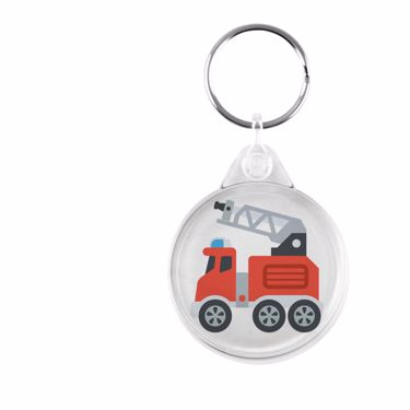 Picture of Emoji Fire Engine Plastic Keyring