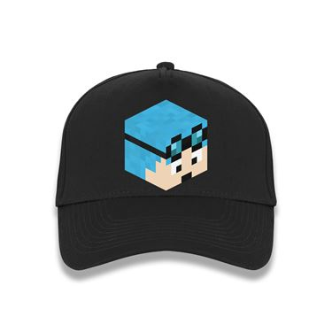 Picture of Dantdm Dan The Diamond Minecart Blue Hair Player Skin 3D Head Right Pose Baseball Cap