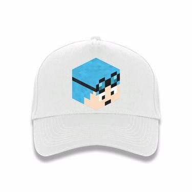 Picture of Dantdm Dan The Diamond Minecart Blue Hair Player Skin 3D Head Right Pose Baseball Cap