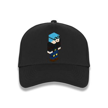 Picture of Dantdm Dan The Diamond Minecart Blue Hair Player Skin 3D Standing Right Pose Baseball Cap