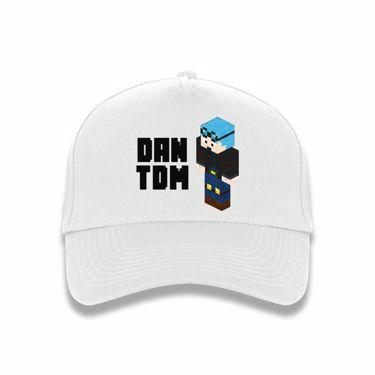 Picture of Dantdm Dan The Diamond Minecart Blue Hair Player Skin 3D Standing Left Pose And Black Text Baseball Cap