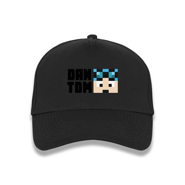 Picture of Dantdm Dan The Diamond Minecart Blue Hair Player Skin Face And Black Text Baseball Cap