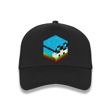 Picture of Dantdm Dan The Diamond Minecart Christmas Player Skin 3D Head Right Pose Baseball Cap