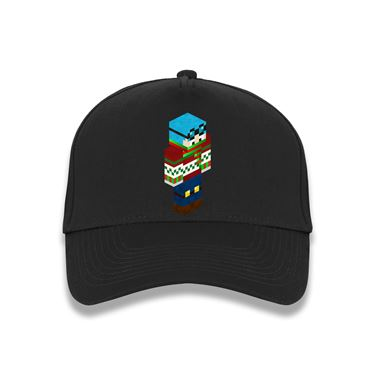 Picture of Dantdm Dan The Diamond Minecart Christmas Player Skin 3D Standing Right Pose Baseball Cap