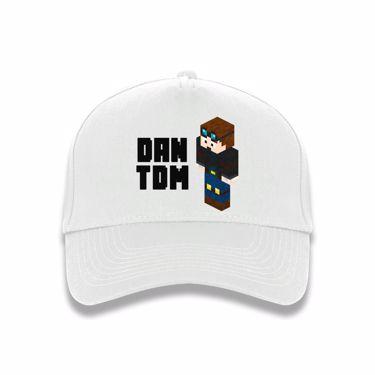 Picture of Dantdm Dan The Diamond Minecart Player Skin 3D Standing Left Pose And Black Text Baseball Cap